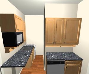 Eredeti konyha elképzelés látványterve
